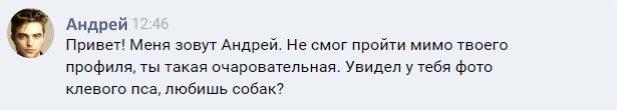 Сообщение Вконтакте 1