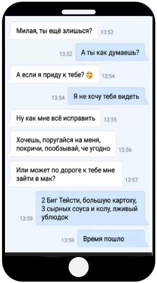 Диалог Вконтакте с девушкой